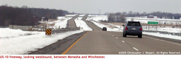 US-10 west of Menasha