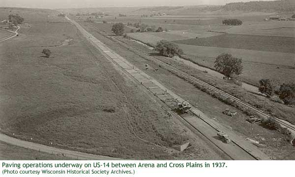 US-14 Paving in 1937